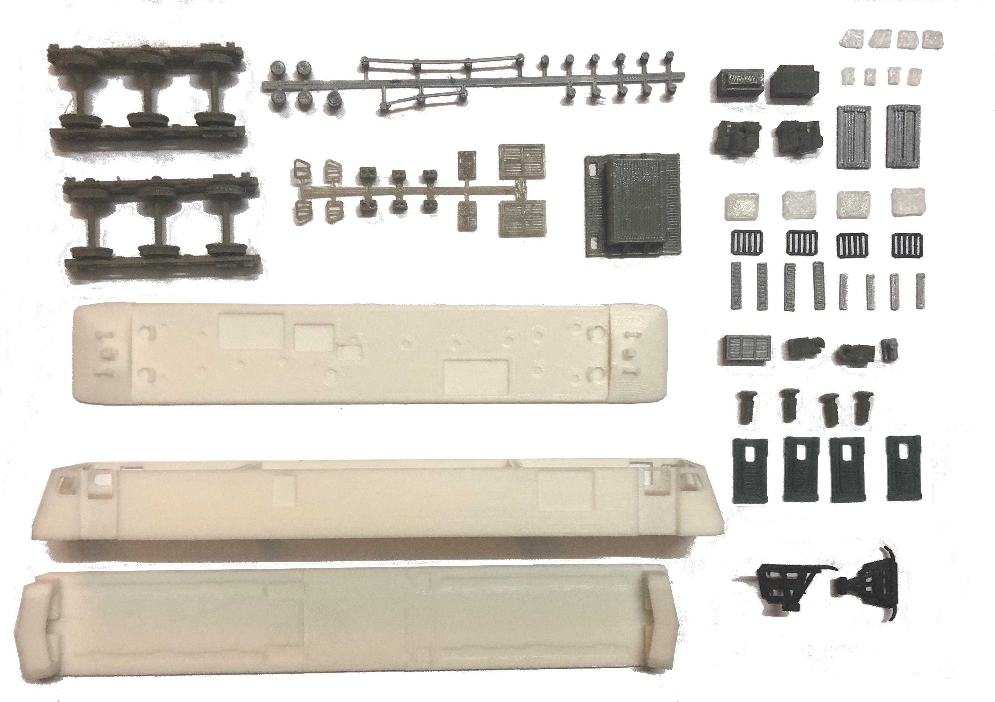 1:100 HO Gauge IR Scale WAG-9 Build Kit (Economy Edition)